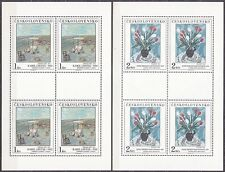 CZECHOSLOVAKIA 1987 **MNH SC#2678/82 Sheet Paintings in national galleries
