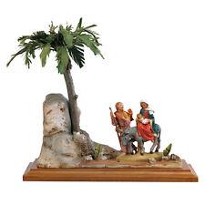 arte religiosa FONTANINI scena vita di cristo - fuga in egitto presepe pastori