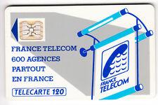 VARIETE TELECARTE LOGO .. 120U Te35 SC5AB FOND DE PUCE ROUGE IMP.15368  C.?€