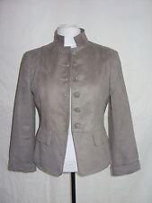 Ladies Coat - M & Co., Size 10 petite, mink colour, military style, short - 7921