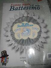 FESTONE BATTESIMO BIMBO ruota diametro 45 cm Addobbi Feste ed Eventi