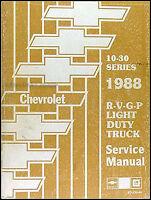 NEW 1988 Chevy Truck Shop Manual Pickup Blazer Suburban Service Repair Chevrolet