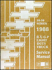 NEW 1988 Chevy Truck Shop Manual Pickup Blazer Suburban Service Repair Chevrolet