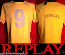 REPLAY TEE SHIRT HOMME MANCHES COURTES JAUNE TAILLE M NEUF N° 9 !
