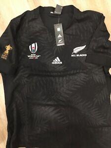BNWT New Zealand All Blacks 2019 Rugby World Cup Adidas Jersey size XXL