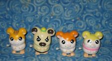 4 Pack 2003 Hamtaro Street Players Wind-Up Collector Hamsters Hammy Toys Loose