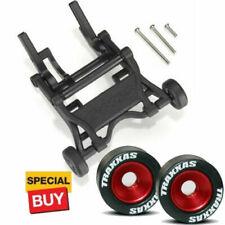Traxxas Black Wheelie Bar/Red Alum Wheels & Rubber Tires: Stampede VXL /Bandit
