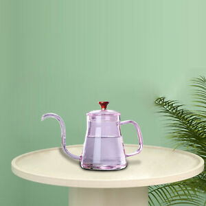 Glass Tea Pour Over Kettle with Lid for Drip Coffee Hand-Made Coffee and Tea