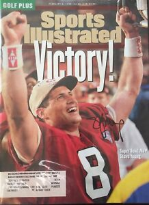 Steve Young Signed Sports Illustrated 2/6/95 Issue  SF 49ers NFL HOF BYU