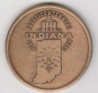 (N) Token - Indiana Sesquicentennial - 1966 - 38 MM Bronze