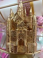 Gold Castle Birthday Wedding Favor Cake Top Decoration