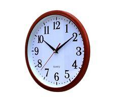 Wall Clock Kitchen School Office Home Shabby Chic Decor Quartz 25cm Rustic