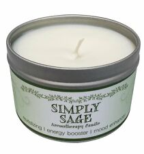 Simply Sage Aromatherapy Candle SOY & ESSENTIAL OILS scent NEW no dye