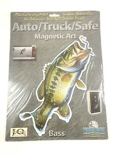 Rivers Edge Truck/ Auto/ Safe Magnetic Art Decal Largemouth Bass (New Old Stock)