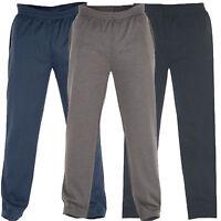 Mens Jogging Bottoms King size Fleece Albert Open Hem  size 1XL TO 8XL New