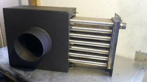 Abgaswärmetauscher / Rohrbündelwärmetauscher BHKW Biogasanlage V4A Wärmetauscher