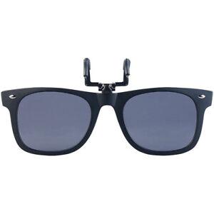 Sonnenclip: Sonnenbrillen-Clip in klassischem Retro-Look, polarisiert, UV400