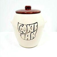 Vintage McCoy Pottery Glaze Cookie Jar with Lid #7024