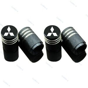 4pcs Car Tire Valve Stem Caps Air Cover Wheel Parts Styling Logo For Mitsubishi
