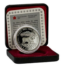1985 Canada $1 Proof Silver Moose - National Parks Centennial In OGP SKU45715