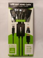 Sima USB & HDMI 5 tip high speed cable charge 4 devices