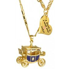 Disney Cinderella Carriage Necklace YG Plated $109 RRP DYN0824