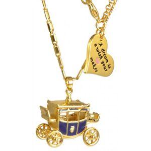 Disney Cinderella Carriage Necklace YG Plated DYN0824 RRP $109