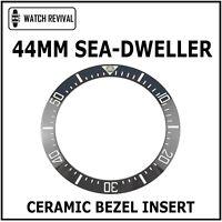 HQ BLACK CERAMIC BEZEL INSERT FOR 44MM ROLEX DEEPSEA SEA-DWELLER 116660 126660