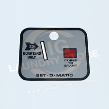 New Set-O-Matic Overlay Only for Wascomat Gen 4 or Gen 5 Coin Drop, Acceptor