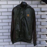 Adidas Originals Jacket Top Zip Casual Retro Vintage Size M Medium Brown NEW
