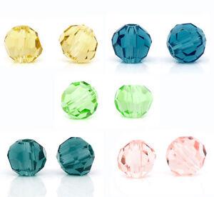200 Mix Kristall Glasperlen Schliffperlen Facettiert Beads BICONE Rhombe 4mm