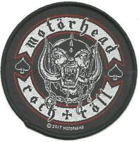 MOTORHEAD rock + roll - 2017 circular WOVEN SEW ON PATCH official merch LEMMY