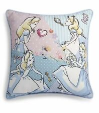 DISNEY ALICE IN WONDERLAND Square Cushion Pillow Primark Blue Vintage Style