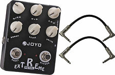 Joyo JF-17 Extreme Metal High-Gain Crunch Effect Pedal Bundle w/ Cables!
