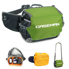 Caseman AW01 Camera DSLR shoulder messenger bag + waist bag fanny pack bum Green