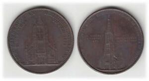 Ulm, Bronzemedaille 1923  aus dem Dachkupfer des Münsters geprägt  prägefrisch