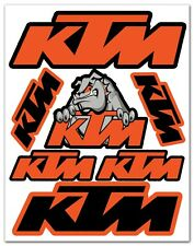 7 PVC Aufkleber KTM Racing Satz Auto Moto GP Motocross Motorrad Vinyl Stickers