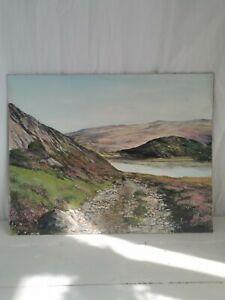 Vintage Landscape Painting on Board (18x14) Artist K LUND Signed Prop Decor Set
