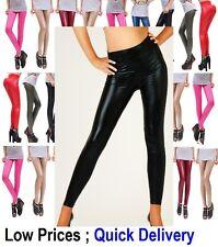Sexy Shiny Wet Look & Black Mat HIGH WAIST Full Ankle Length Leggings *HQ* WetLg