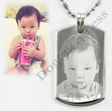 Custom Photo Text Engraving Small Luxury Dogtag Necklace Best Christmas Gift