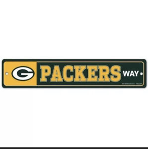 GREEN BAY PACKERS ~ NFL Team Logo 3.75 x 19 Wall Display Street Sign Decoration