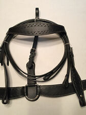 Breast Collar and Bridle by TN Saddlery Western matches Trail saddle Black
