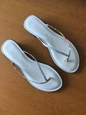 Italian Shoemakers Femmes Tongs Blanc en Taille Us7 Uk5