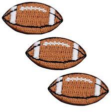 Mini Football Applique Patch (3-Pack, Mini, Iron on)