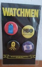 """COLLECTIBLE HBO 2019 """"WATCHMEN"""" Pin Set Button HBO Portugal"""
