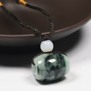 Certified Grade A 100% Natural Oil Green Jadeite Jade Pendant Lucky Bead 78242