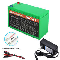 12v Battery Pack 10A 15A 20A 12V  Li-ion Rechargeable Battery Led Light +Charger