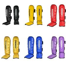 PHENOM SG-1 Shin Instep Guards Pads Leg Muay Thai Kick Boxing Training R