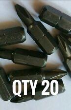 20 x Draper Expert No 1 C-Slot screwdriver bit Schroder Screw Bolt drill new