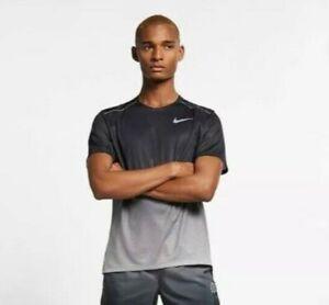 Nike Men's Dri Fit Miler Swoosh Pinwheel Running Shirts CT7804 056  Size L / M